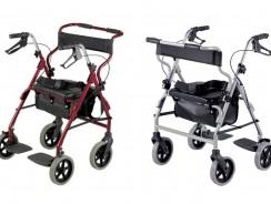 Deambulatore doppia funzione Rollator e Sedia a rotelle