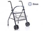 Rollator pieghevole Zeus per casa con sedile e cestino