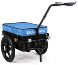 Rimorchio per bici con cappotta Big Blue Mike – 70 litri