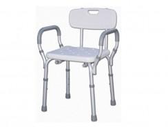 Sedile per doccia e vasca da bagno con schienale e braccioli
